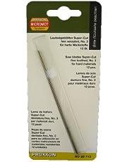 PROXXON 28113 Spuer Cut finskurna sågblad utan fint tandade tvärstift, 12 stycken lövsågsblad för hårda material som järn, pertinax