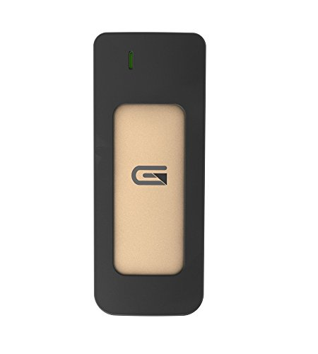 Glyph Atom, 275GB SSD, USB-C (3.1, Gen 2), USB 3.0, Compatible with Thunderbolt 3 (Gold) by Glyph