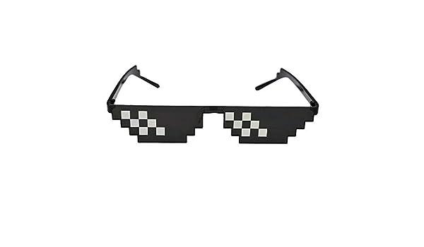 WHAELI Gafas 8 bits gafas de sol MLG pixeladas para hombres ...