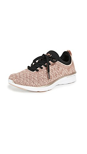 APL: Athletic Propulsion Labs Women's Techloom Phantom Sneakers, Rose Gold/Black, 8 M US