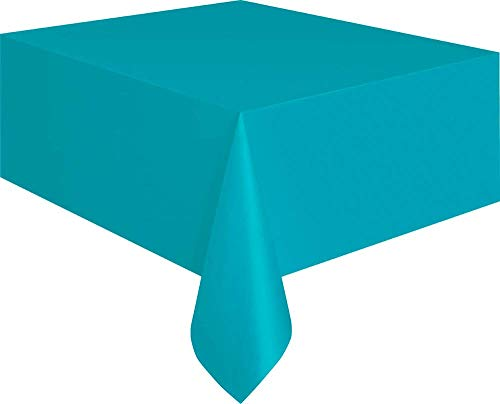 Teal Plastic Tablecloth, 108