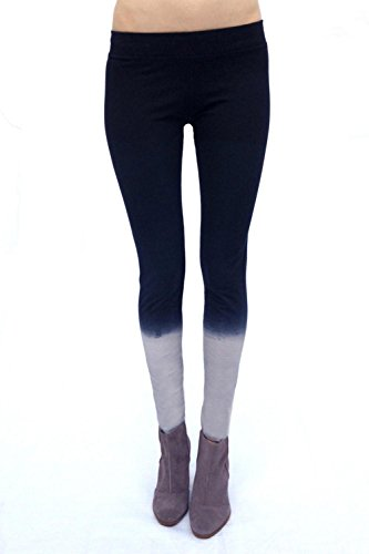 SWEET VIRTUES Women's Orderly Hand Dip Dyed Cotton-Spandex Legging XS BLACK-GREY 31Sg 4vusTL
