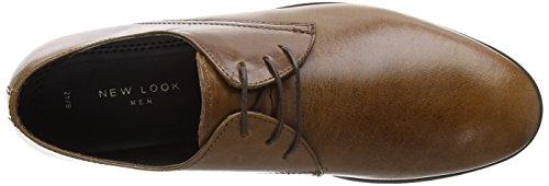 New Look Derby - Botas Hombre Marrón (Dark Brown)