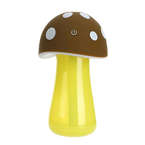 DEESEE(TM) Home Aroma LED Humidifier Mushroom Air Diffuser Purifier Atomizer New (Coffee)