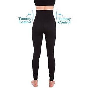 Homma Activewear Thick High Waist Tummy Compression Slimming Body Leggings Pant (Medium, Black)