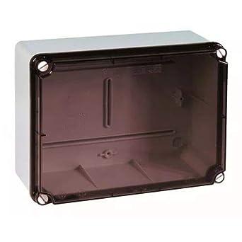 IDE ELT231 IP65-IP67 Caja Estanca de Derivación con Tapa Transparente y laterales lisos, Gris, 180mm x 241mm x 95mm: Amazon.es: Industria, empresas y ciencia