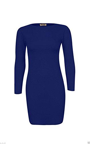 Papaval - Camiseta de manga larga - Túnica - para mujer azul marino