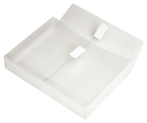 Lion Vel-Close-R Clear Poly Envelope with Gusset, 5 x 7 Inches, Side Load, Pack of 6 (92010-CR-6P) ()