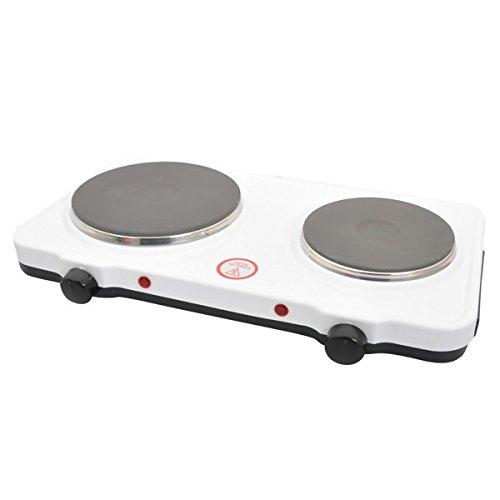 Fornello ASEL da campeggio 2 due piastre elettriche piano cottura cucina cucinino da appoggio 1000W+1500W