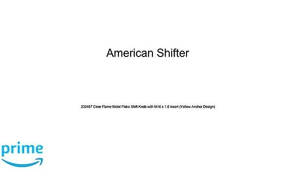 American Shifter 148304 Black Retro Shift Knob with M16 x 1.5 Insert Green Shift Pattern 26n
