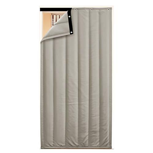 JIANFEI Door Curtain Winter Keep Warm,2 Colours 18 Size Customizable (Color : A-Gray, Size : 80x180cm)