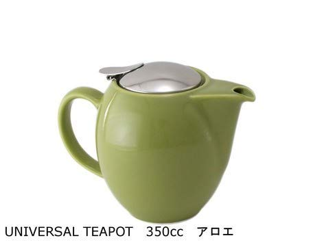 (Zero Japan Mino-yaki Japanese Porcelain Teapot Kyusu 350cc for 2 Persons with Removable Stainless Steel Strainer Made in Japan - Sencha Green BBN-01SEN)