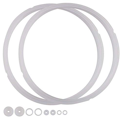 - Power Pressure Cooker Sealing Ring Clear Color Multi-Cooker Rubber Gaskets for Many 5 Liter 6 Liter 5 Quart and 6 Quart Models, Set of 2