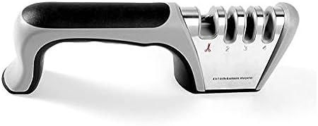 Sacapuntas Professional 4 en 1 Afilador manual Acero inoxidable ABS Cocina CHEF CHEF CHEFING SHUPETING CERAMICA SIPE REPAIR BLADE juego de cuchillos de cuchillo (Color : Gray)