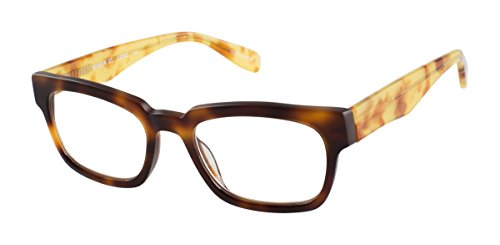 Benson Street - Square Trendy Fashion Reading Glasses for Men and Women - Bourbon Tortoise (+2.50 Magnification ()