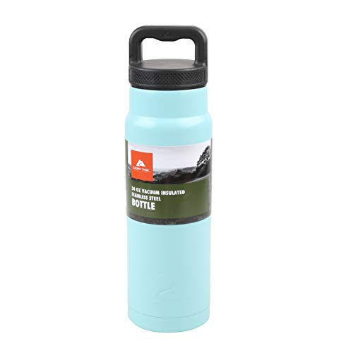 Ozark Trail 24ounce Vacuum Insulated Stainless Steel Water Bottle, Teal