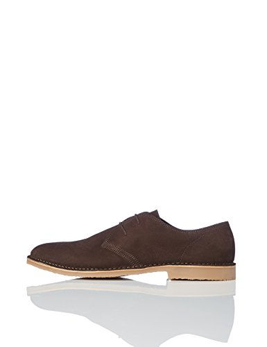 Derby Marrone Stringate Chocolate Scarpe FIND Uomo ZSqFSC