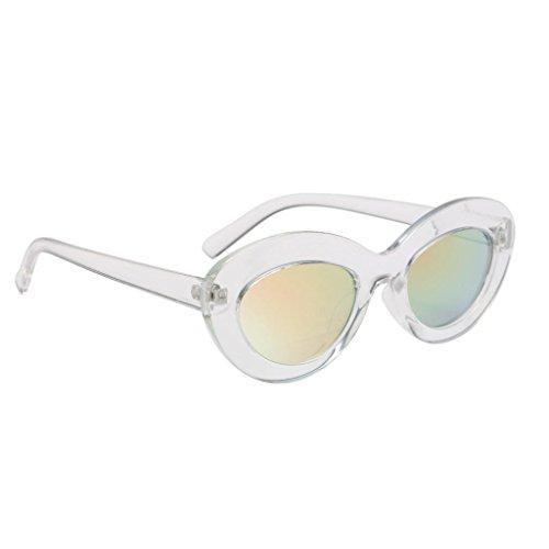 Lunettes Plastique Cadre Ovale Sharplace Soleil en Femme Lunette Lentille 01 Protection de UV 5cc8BUq