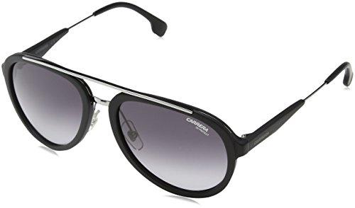Carrera Metal Aviator Sunglasses 57 0TI7 Matte Black Ruthenium 9O dark gray gradient lens