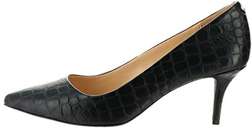 C. Wonder Croco Embossed Leather Pumps Tara Black 7.5M New A279972