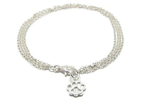 Silver dog paw bracelet cat paw bracelet silver animal charm bracelet silver pet bracelet childrens bracelet dog paw charm cat paw charm