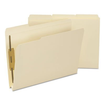 1 1/2 Inch Expansion Folder, Two Fasteners, 1/3 Top Tab, Letter, Manila, - Tab 2 Heavyweight Ply