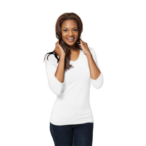 White 3/4 Sleeve Top - 1