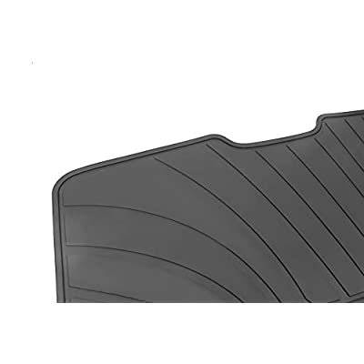 HD-Mart Car Floor Mats Liners Custom Fit for Mercedes Benz A Class 2012-2020/B Class 2013-2020 GLA 2014-2020 Full Black Rubber Set All Weather Protection Heavy Duty Odorless: Automotive