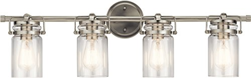 (Kichler Lighting 45690NI Four Light Bath from The Brinley Collection, Brushed Nickel)
