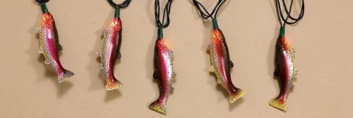 Christmas Tree Lights Rainbow Trout Decoration Lights Fish Holiday Ornament Lights (10 Foot)
