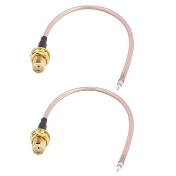 Amazon.com: eDealMax 2PCS RG316 de soldadura de alambre SMA-K Antena ...