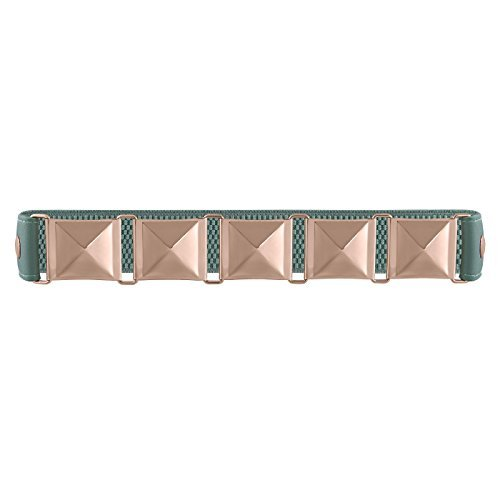 Womens Faux Leather Vegan Thick Wide and Thin Skinny Fashion Belts Mint / Gold Pyramid One Size - Skinny Pyramid Belt