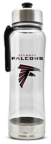 NFL Atlanta Falcons 20oz Clip-On Clear Plastic Water Bottle
