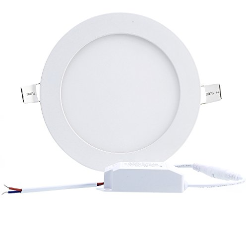 B Right 12W 6 Inch Ultra Thin Round LED Panel Light, 850lm, 80W  Incandescent Equivalent, 4000K Neutral White, LED Recessed Ceiling Lights  For Home, Office, ...