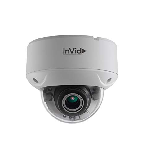INVID TECH ULT-C5DRXIRM2812, 5 Megapixel, Coax BNC Connection HD-TVI, Motorized 2.8-12mm Lens, IP67 Outdoor IR Dome Camera