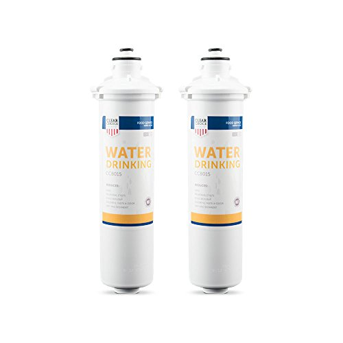 H54 Drinking Water - Clear Choice Drinking Water Filtration System Replacement Cartridge for Everpure 2-HL EV9592-01 EV9720-06 H-54 S-54 Also Compatible with Nu Calgon 9618-07 9619-06, BevGuard BGE-3200, 2-Pack
