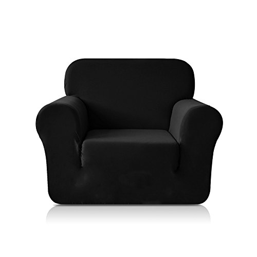 Chun Yi 1-Piece Knit Fabric Slipcover for Chair - Black