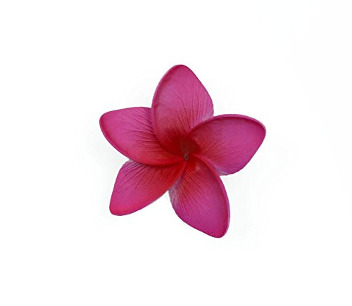 Hawaii Dance Costume (Hawaii Luau Party Dance Artificial Foam Plumeria Hair Clip in Hot Pink)