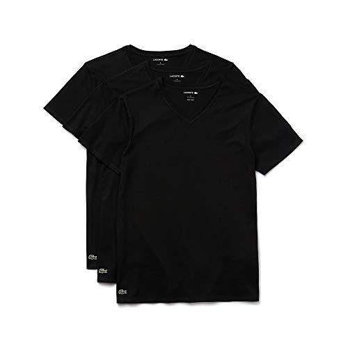 Lacoste Men's Essentials 3 Pack 100% Cotton Regular Fit V-Neck T-Shirts