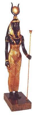 Standing Isis Statue Egyptian Goddess Deity Mythology
