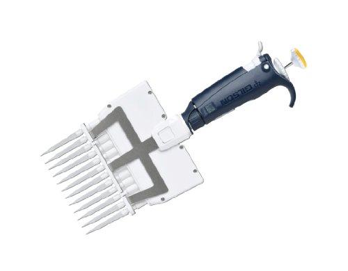 Gilson Pipetman FA10016 Color Coded Multichannel L Pipettor, 12 Channel, 20-300µL Volume Range