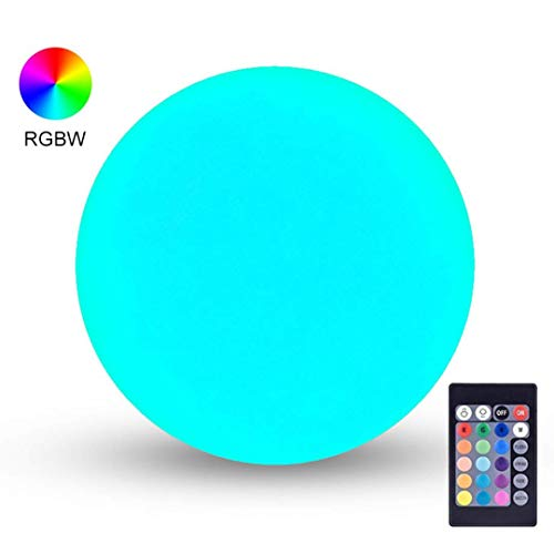 LOFTEK LED Light Ball : 6-inch RGB Dimmable Globe Bedside Lamp with Remote Control, 16 Colors Changing Floating Pool Lights, 5V Fast USB Charging, IP65 Waterproof Orbs,Perfect for Nursery or Decor Use]()