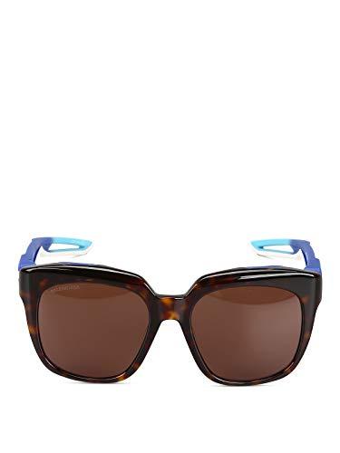 Luxury Fashion | Balenciaga Woman BB0025S002 Brown Acetate Sunglasses | Season Permanent