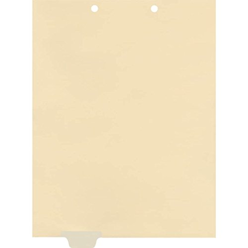 (Medical Arts Press Match Write-On End Tab Chart Dividers- Blank, Position 2 (100/Pkg) (56837))