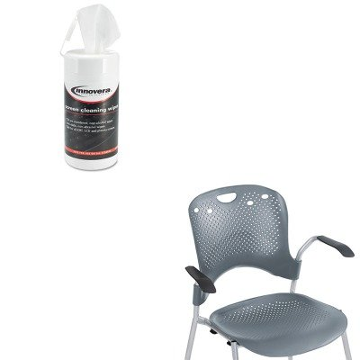 KITBLT34555IVR51510 - Value Kit - Balt Optional Arms for Circulation Series Seating (BLT34555) and Innovera Screen Cleaning Pop-Up Wipes (IVR51510) -