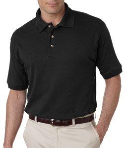 UltraClub® Men's Egyptian Interlock Polo - Black - 6XL