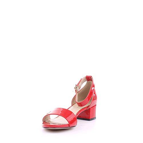 GATTINONI ROMA - Sandalias de vestir de charol para mujer Rojo