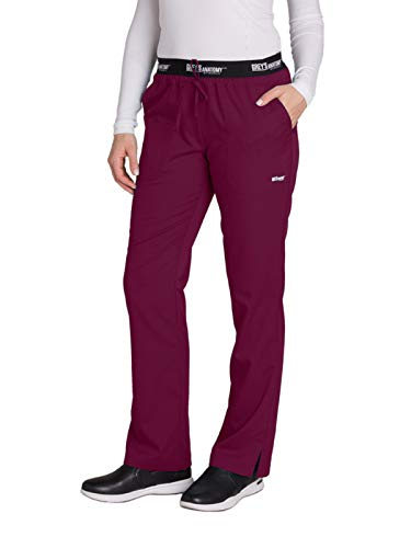 Grey's Anatomy Active 4275 Drawstring Scrub Pant Wine S