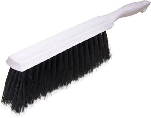 Carlisle 4048100 Flo-Pac Plastic Handle Counter/Bench Brush, Polyester Bristles, 8
