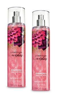 Bath and Body Works 2 Pack A Thousand Wishes Diamond Shimmer Mist 8Oz.